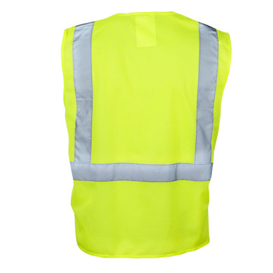 Ironwear 1284 Class 2 Safety Vest with Zipper, 100% Polyester - Lime