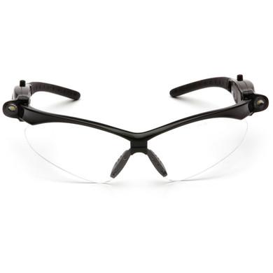 SB6310STPLED PMXTREME LED Safety Glasses - Black Frame