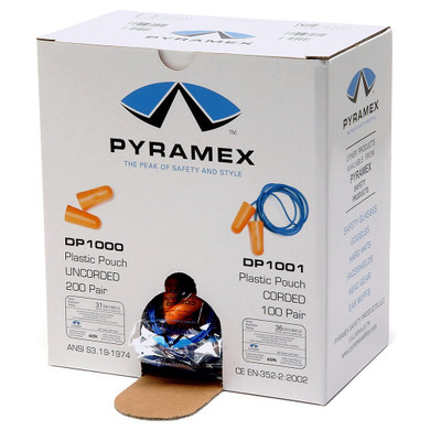 DP1001 Disposable Corded Polyurethane Foam Ear Plugs - 31 NRR