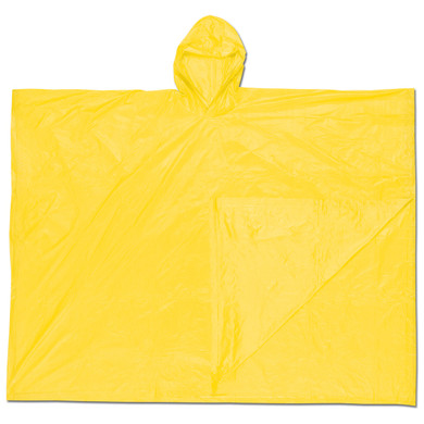 MCR Safety O40 Schooner Disposable Poncho - .10mm PVC - Yellow