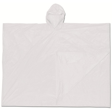 MCR Safety O42 Schooner Disposable Poncho - .10mm PVC - Clea