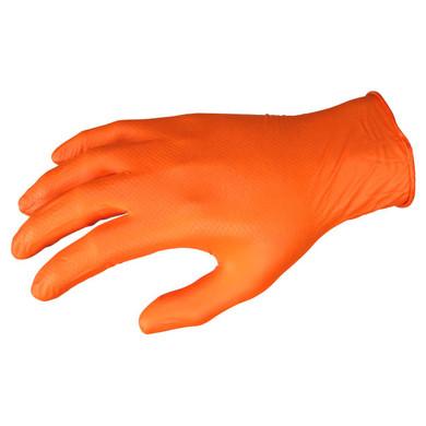 MCR Safety 6016O NitriShield Disposable Nitrile Gloves w/ Grippaz Technology, 6 mil Powder Free-Orange