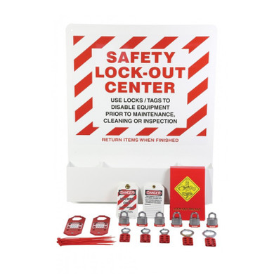 Heavy-Duty Aluminum Big Pocket Lockout Board-Including Accessories