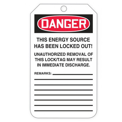 OSHA Danger Tags By-The-Roll: Do Not Operate