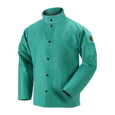 Black Stallion F9-30C TruGuard™ 200 FR Cotton Welding Jacket, Green