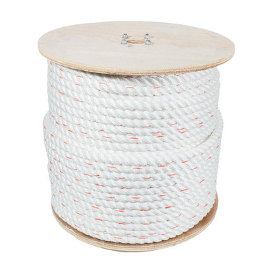 """Reel 5/8"""" x 600' -3 Strand Poly-Dac Rope Import-Tensile Strengh 6100 Lbs"""