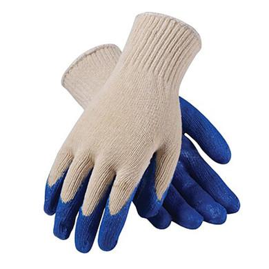 Seattle Glove String Knit Glove 040, Dark Blue Latex Coated Palm-Dozen