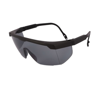 Libus USA 900498 Argon Safety Glasses - Black Frame - Grey Anti-Fog Lens