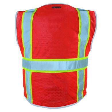 Kishigo 1710 Premium Brilliant Series Heavy Duty Safety Vest - Fluorescent Red