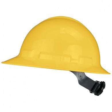 Radians QHR4 Quartz Full Brim Hard Hat - 4-Point Ratchet Suspension