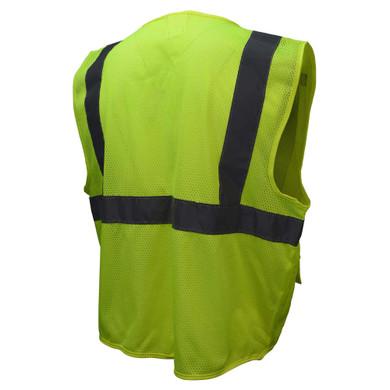 Radians SV27 Type R Class 2 Tablet Pocket Mesh Surveyor Safety Vest-Lime/Orange
