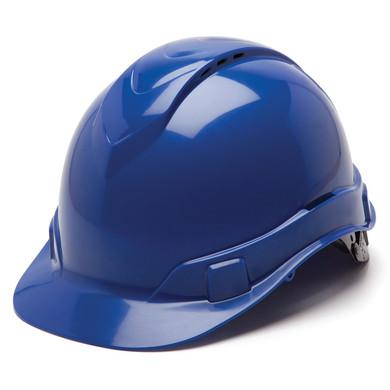 Pyramex Ridgeline Vented Hard Hat - 4-Point Ratchet Suspension