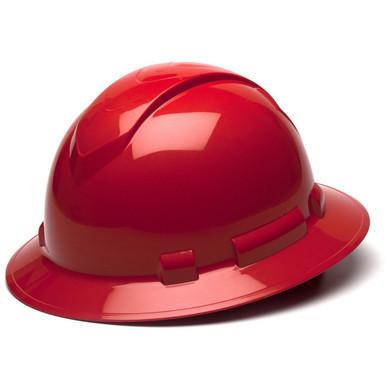 Pyramex Ridgeline Full Brim Hard Hat - 4-Point Ratchet Suspension