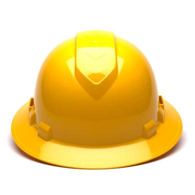 Pyramex Ridgeline Vented Full Brim Hard Hat - 4-Point Ratchet Suspension