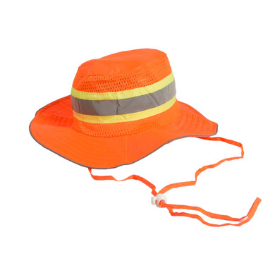 Ironwear 1271 High-Visibility Reflective Booney Hat with Adjustable Neck Strap
