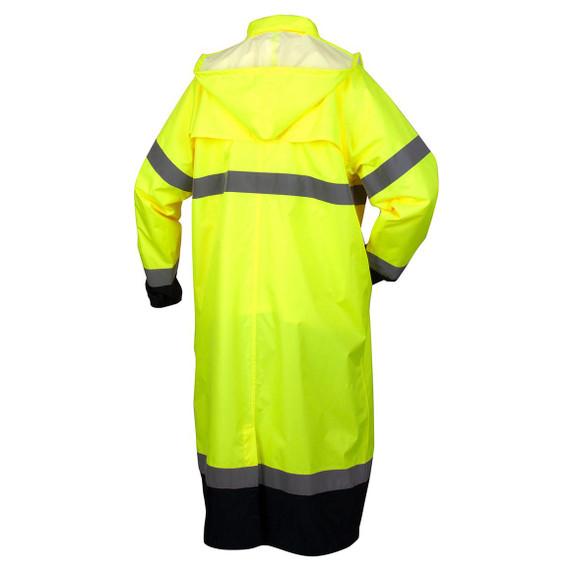 Pyramex RRWC3110 Premium Hi-Vis Raincoat with Drawstring Hood