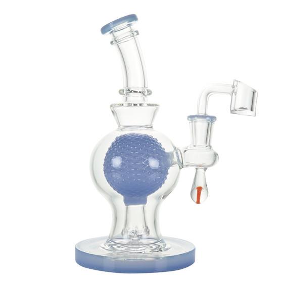 """8"""" BALL PERC W/ 3D MUSHROOM - JADE BLUE"""