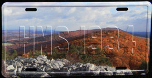 Hawk Mountain License Plate