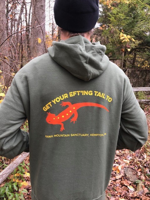 Red Eft Tee Hooded Sweatshirt
