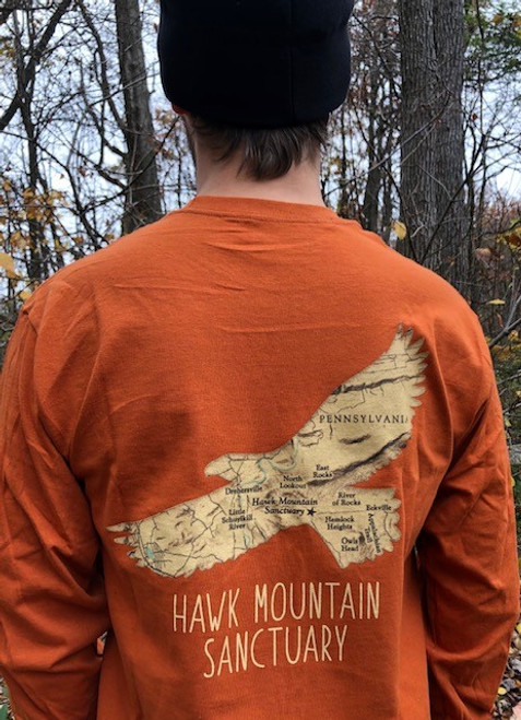 Raptor Silhouette/Map Tee Long-sleeve