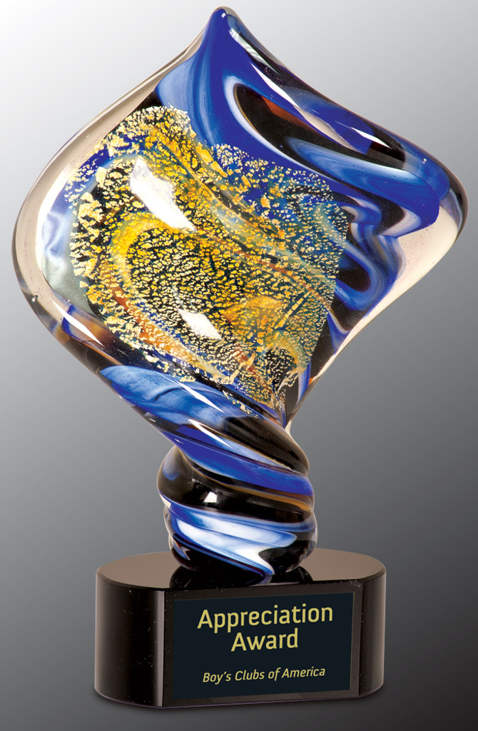 Diamond Twist Art Glass