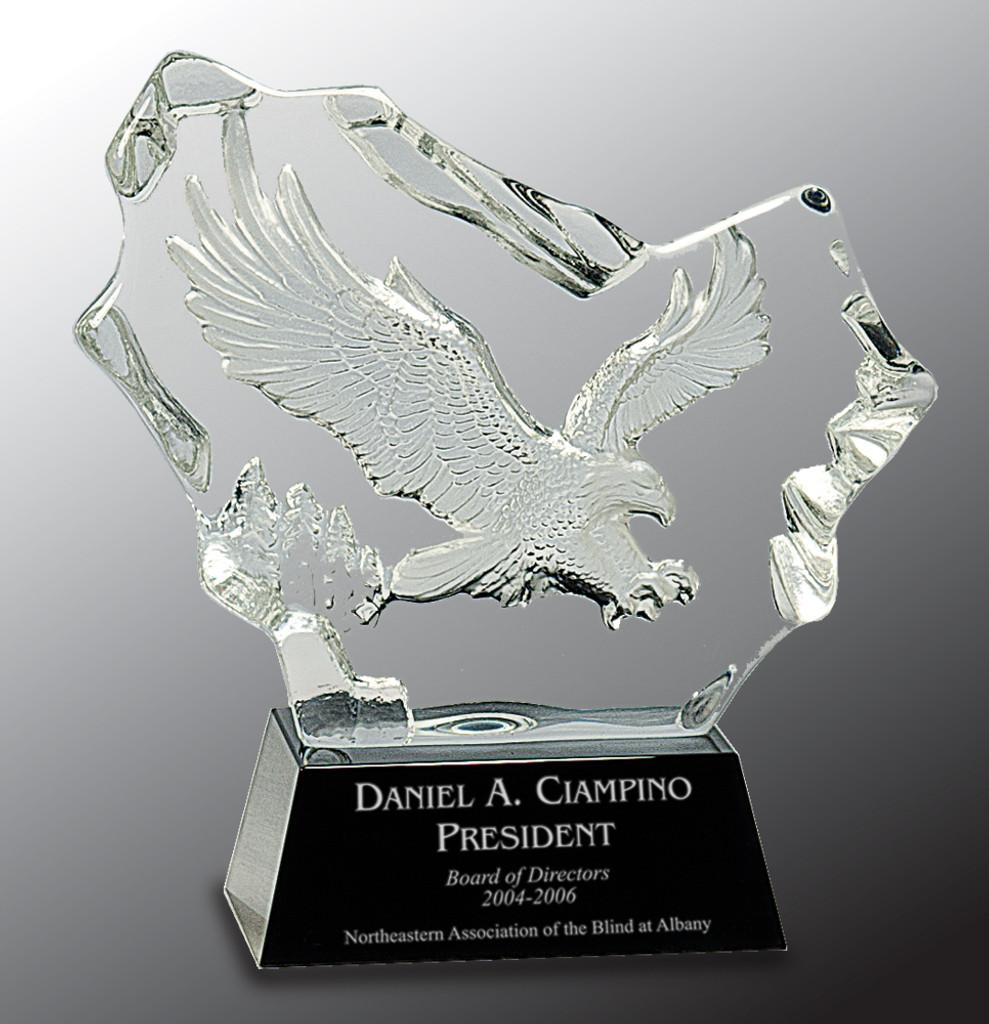 Crystal Carved Eagle Award