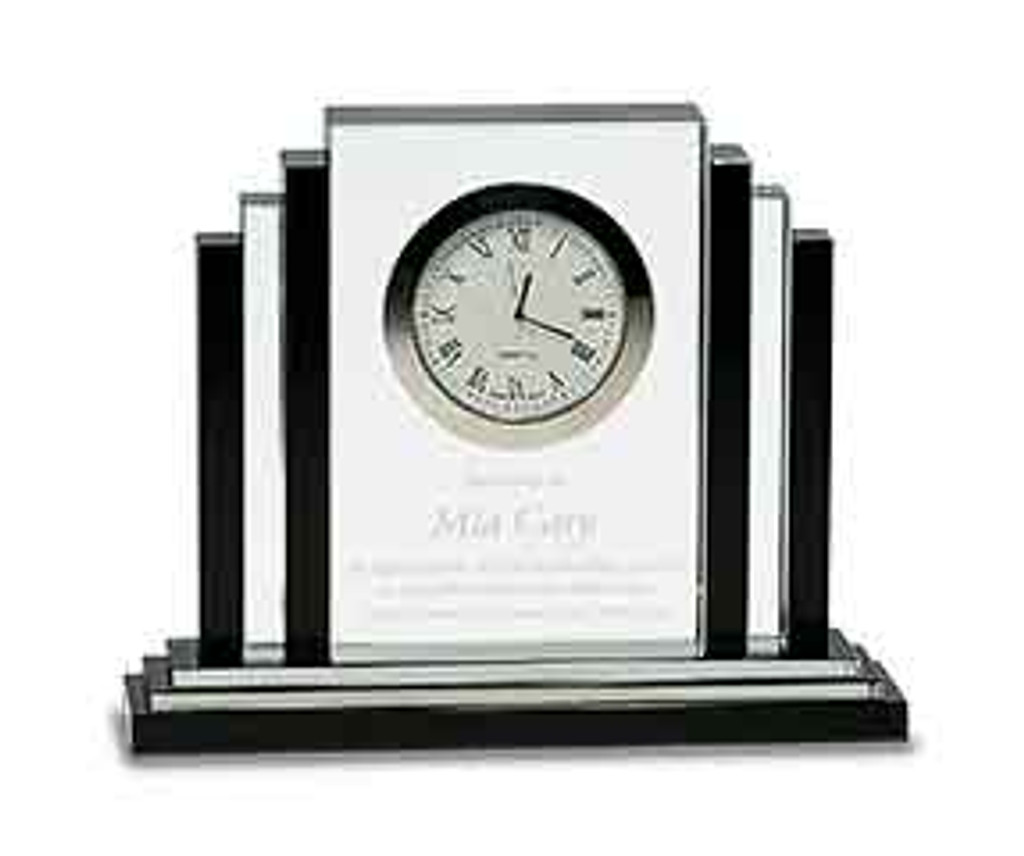 Crystal Black and Clear Clock