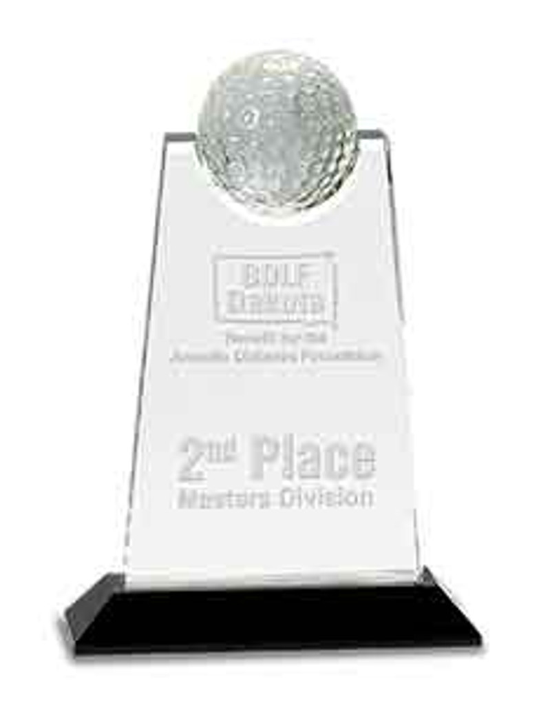 Crystal Golf Tablet Award