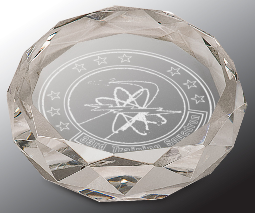 Faceted Round Crystal Paperweight