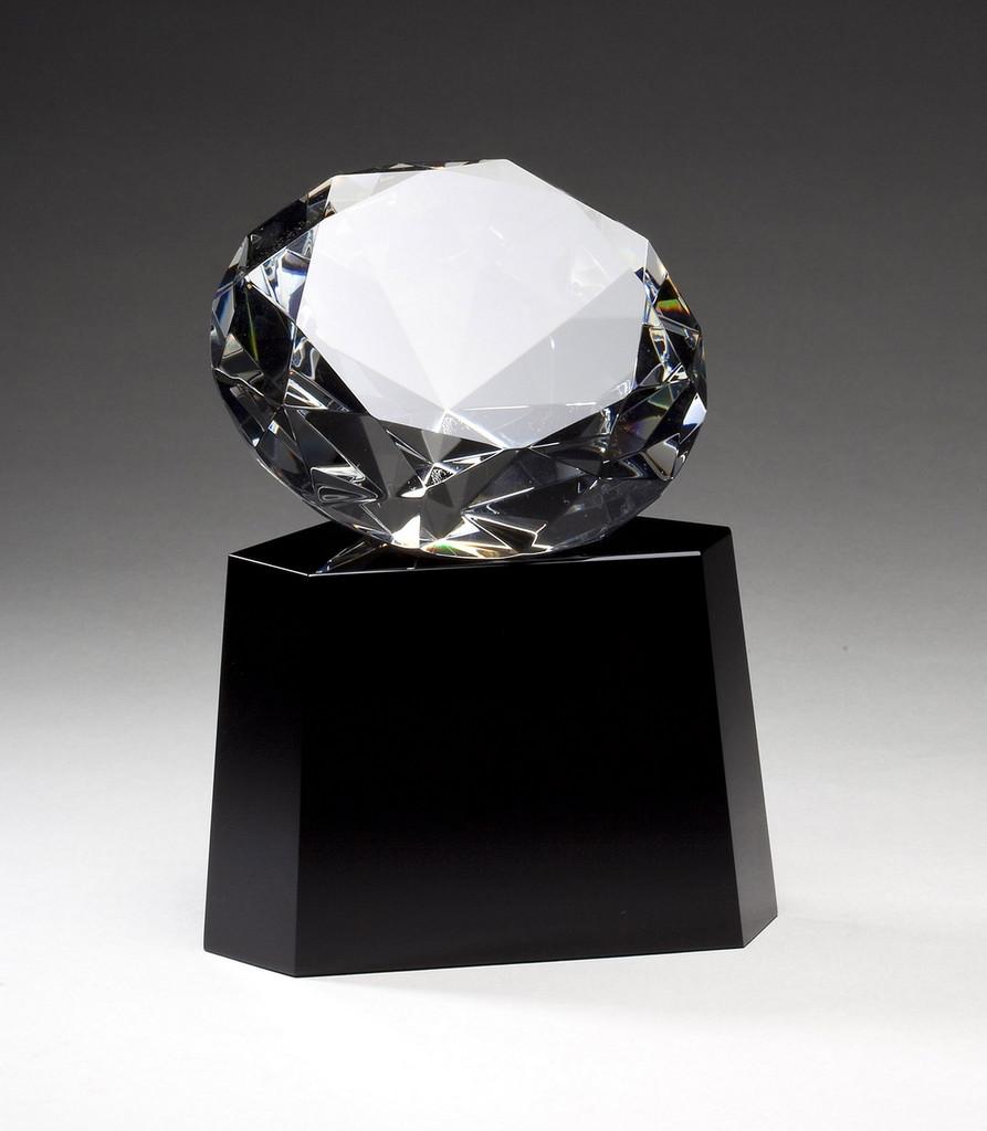Crystal Diamond Sitting On Base