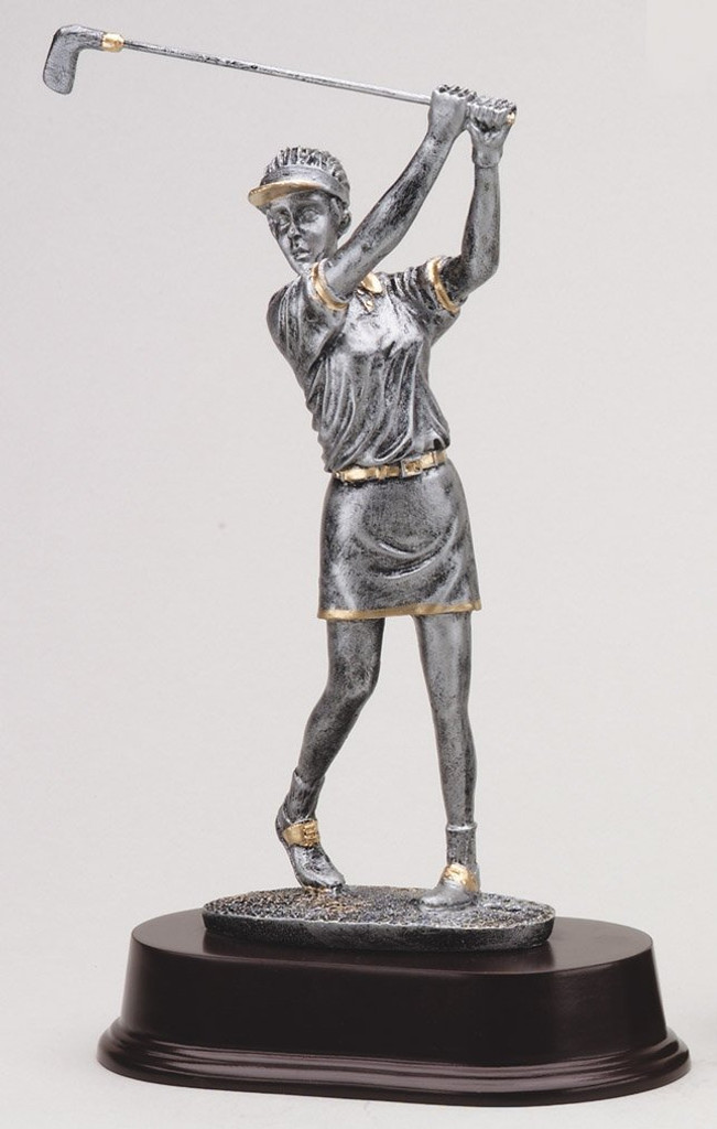 Female Resin Golfer Statue