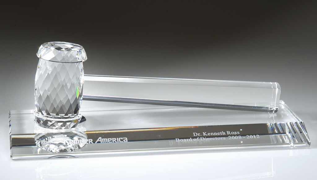 Crystal Gavel With Crystal Base