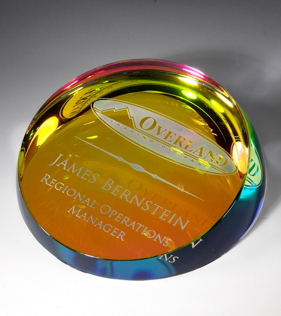 Colored Corona Paperweight
