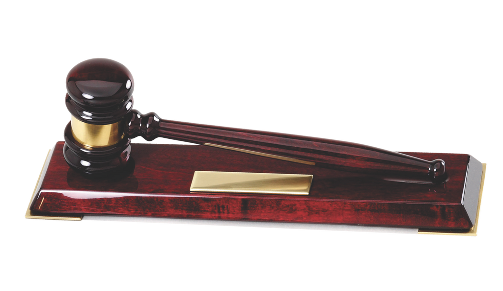 Rosewood Gavel with Stand