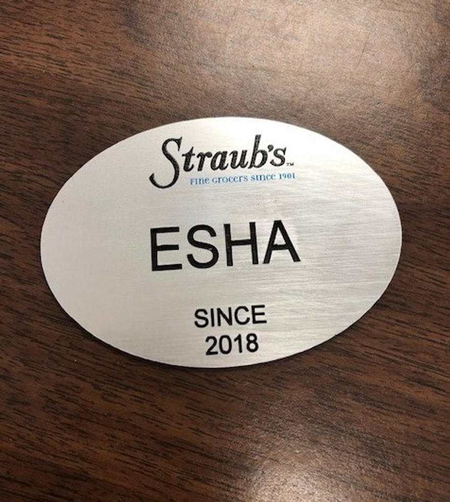 "3""X2"" Plastic Oval Name Badge"