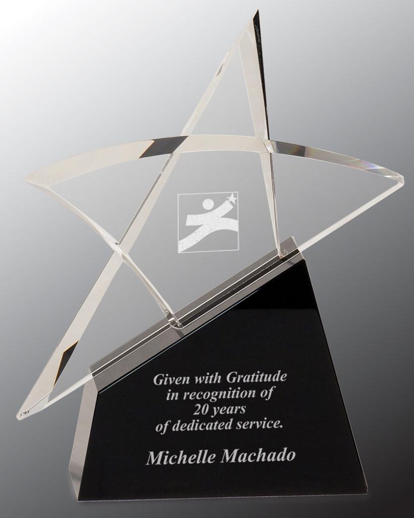 Crystal Outline Star Award