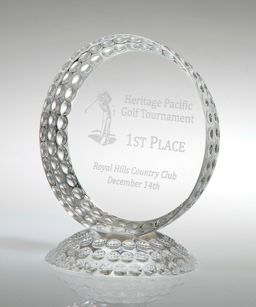 Dimpled Golf Trophy