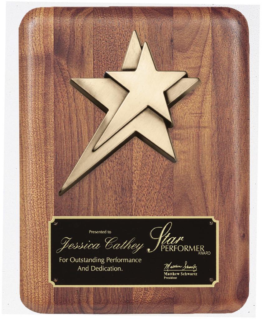 Star Casting Walnut Plaque