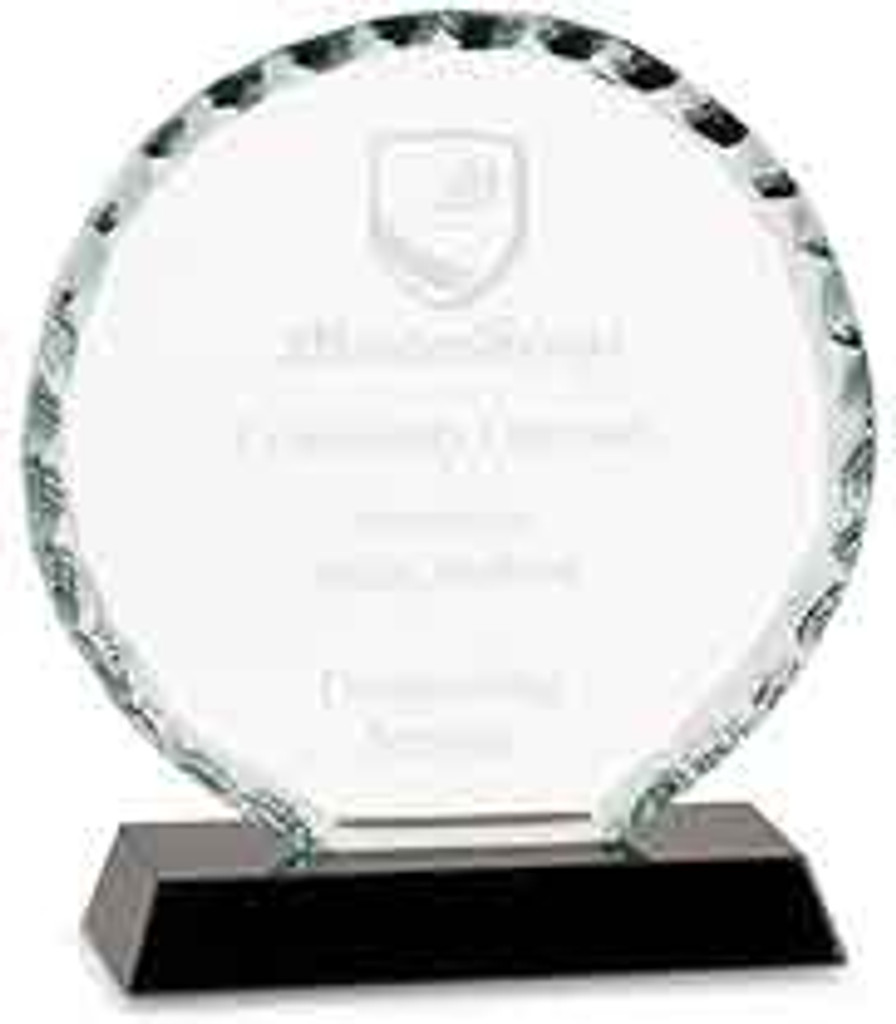Round Facet Glass Award