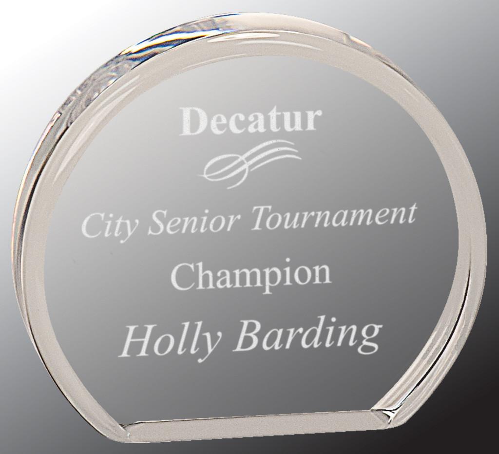 Beveled Round Acrylic Award