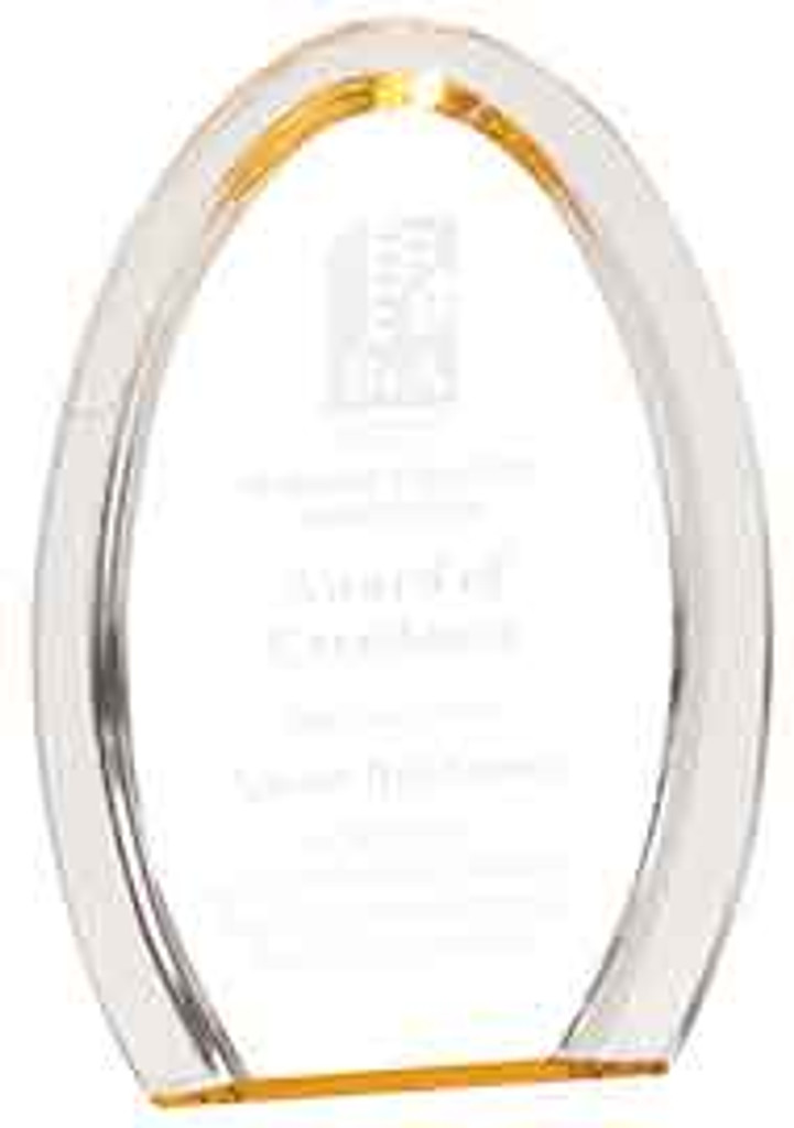 Oval Halo Acrylic Award