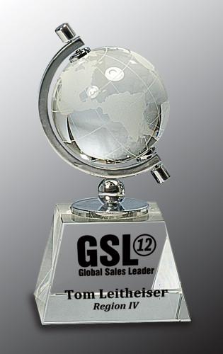 Globe in Semi-Meridian Holder