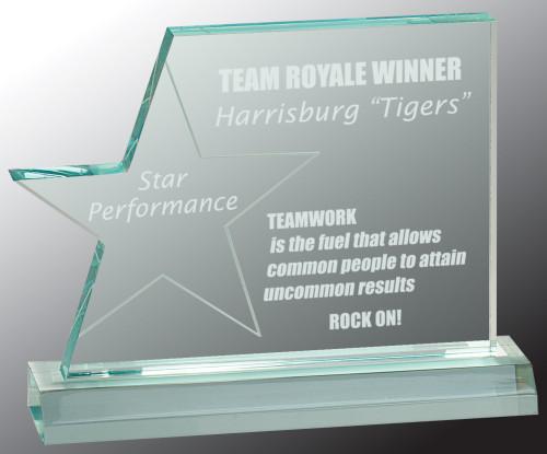Star Page Acrylic Award