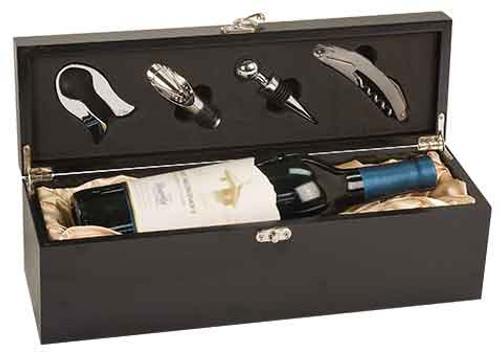 Black Wine Box With Tools