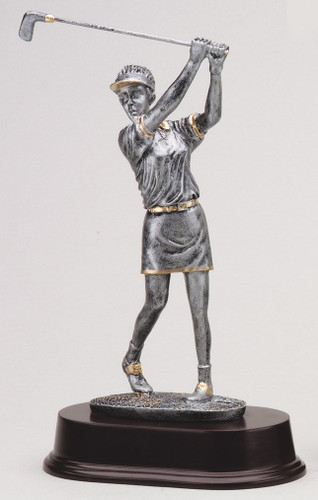 Female Resin Golfer Statue