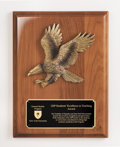 Walnut Plaque with Eagle Casting
