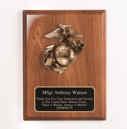 Marine Casting Walnut Plaque