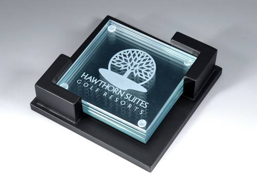 Jade Glass Coasters