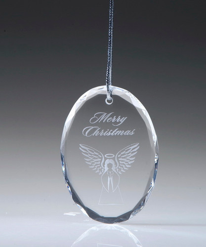 Crystal Oval Ornament
