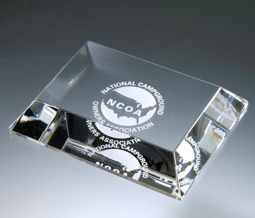 Mitered Edge Crystal Paperweight
